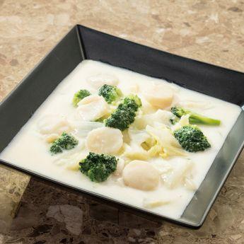 帆立貝とブロッコリーの中華クリーム煮